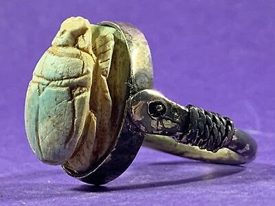 Circa 770-330Bce Ancient Egyptian Gold Colour - Possibly Gold Guild Scarab Ring