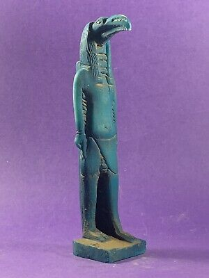 Scarce Circa 732-315Bc Ancient Egyptian God Of Moon Thoth Statue W/hieroglyphics