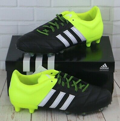 Adidas Ace 15.2 FG/AG Leather Black/Yellow Men's Football Boots B32800