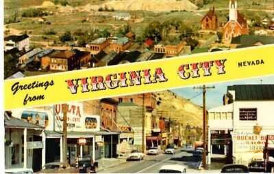 Comstock Lode Mining Camp and Virginia City Nevada, Unposted- Postcard