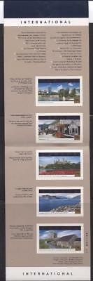 Canada #BK244b $5.25 2001 Tourist Attractions Bklt MF/HF Paper Open Cvr VF-84 NH