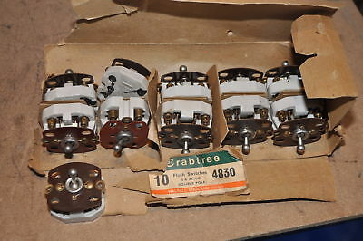 Vintage Crabtree Vitreous 4830 Flush Switch 5A Ac Dc Double Pole New Old Stock