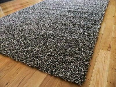 EXTRA LARGE THICK MODERN HIGH PILE PLAIN SOFT NONSHED SHAGGY RUGS-GREY 160x230cm