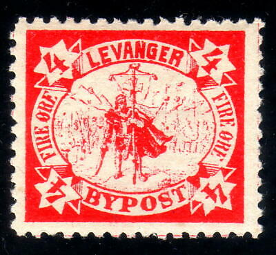 Norway Local post 1888 LEVANGER 4 øre # 2, MINT NEVER HINGED