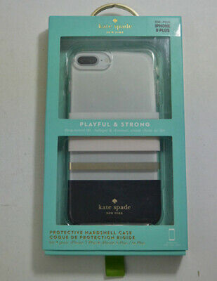 New OEM Kate Spade Hardshell Charlotte Stripe Case For iPhone 8 Plus & 7 Plus