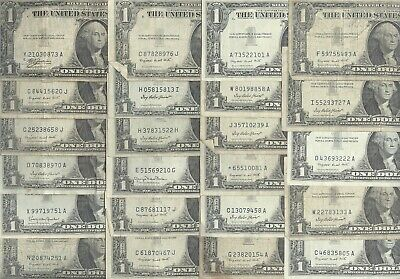 Lot of 23- $1.00 Silver Certificates + 1935 & 1957 + STARNOTES + No Reserve!