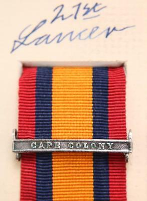 Qsa Queens South Africa Medal Ribbon Bar Clasp Cape Colony Boer War Campaign