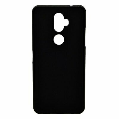 "Cover BLACK SMOOTH for ALCATEL 3V (2018) 4G 6"" + TEMPERED GLASS Case TPU Gel ..."