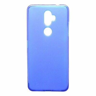 "Cover BLUE SMOOTH for ALCATEL 3V (2018) 4G 6"" + TEMPERED GLASS Case TPU Gel S..."