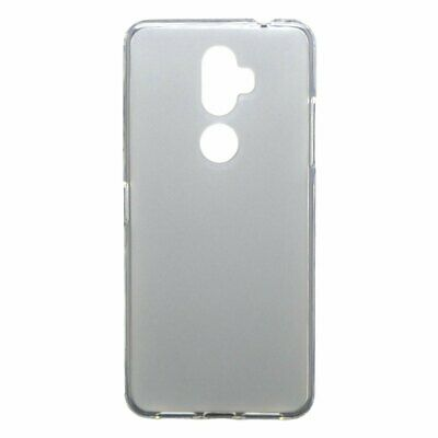 "Cover WHITE SMOOTH for ALCATEL 3V (2018) 4G 6"" + TEMPERED GLASS Case TPU Gel ..."