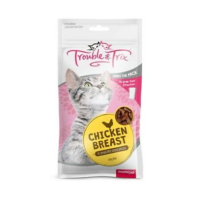 Trouble & Trix Cat Treats Chicken Breast 85g in Small Bite Sized pieces