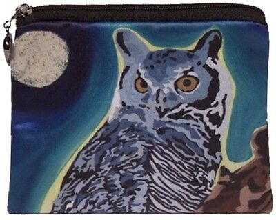Owl Change Purse, Coin Purse - From my Original Oil Painting, The Wise One