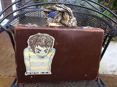 Small Leather Vintage Suitcase  - (damaged)