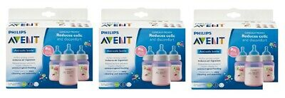 Philips Avent Bottle BPA Free, 3 Wide Neck Bottles, 9 Oz Colors Vary (Pack of 3)
