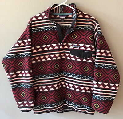 c330a14dea33f Vintage Patagonia Men s Synchilla Snap-T Fleece Pullover M Aztec Native  Pattern