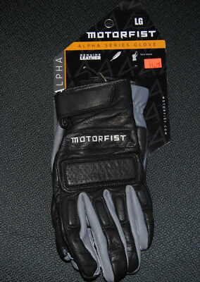MOTORFIST Alpha Glove in Black/Stealth Size Large