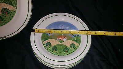 Sango Sangostone Country Cottage 1 Chop Plate and 7 Salad Plates
