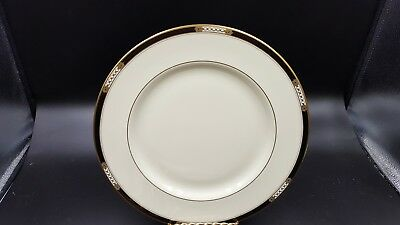 2 Lenox Hancock Pattern China Dinner Plates - Presidential Collection Gold Trim