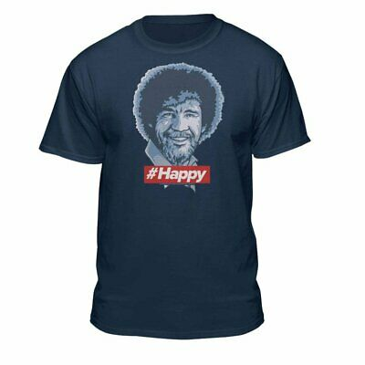 Official Bob Ross Because I'm #Happy Smiling Laughing T-Shirt