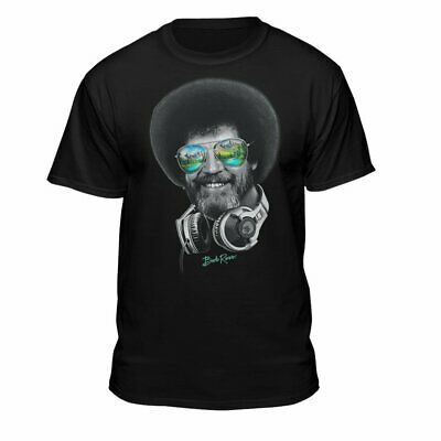 Teelocity DJ Bob Ross Officially-Licensed Headphone & Shades Men and Women...