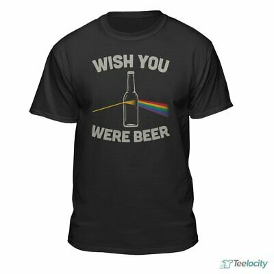 Teelocity Wish You were Beer Mens Official Funny Drinking Party T-Shirt Black