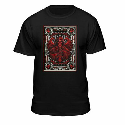 Teelocity Death Grim Reaper Men's Playing Card Skull Skeleton Gothic T-Shirt...