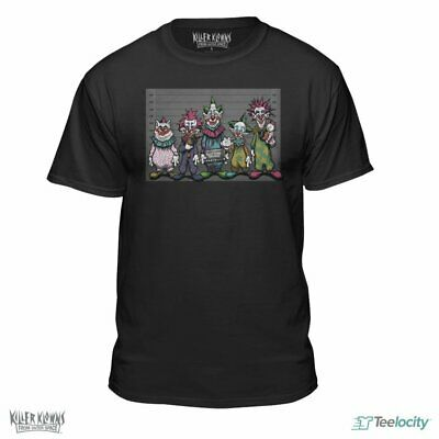 Teelocity Killer Klowns from Outer Space Official Lineup Fitted T-Shirt