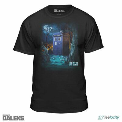 Teelocity Doctor Who and The Daleks The Forest Men's Black Fitted T-Shirt