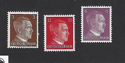 Small MNH stamp set / Adolph Hitler / Nazi Germany / Third Reich / 1941 issues