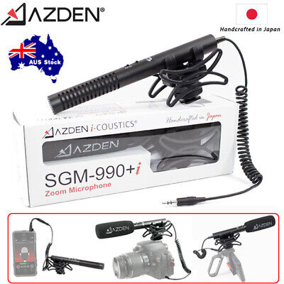 Azden SGM-990+i Zoom Shotgun Microphone for Camera & Mobile Handcrafted in Japan