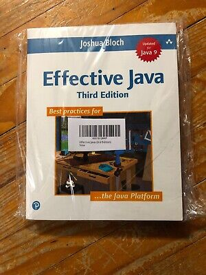 Effective Java (3rd Edition) by  Bloch, Joshua Brand New