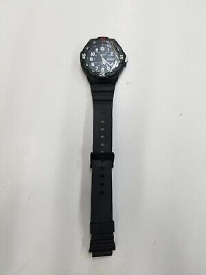 Casio Men's Quartz Rotating Bezel Black Resin Band 45mm Watch MRW200H-1BV