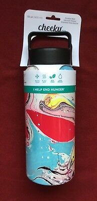 New Cheeky Go Double Wall Stainless-Steel Bottle 32oz 24hr Cold 6hr Hot
