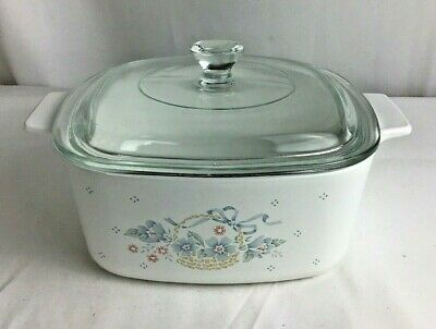 Corning Ware Corelle Casserole With Lid Country Cornflower 1 1/2 Qt. A-1 1/2-B