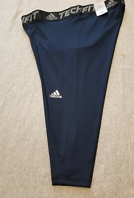 ec53c744a7257 ADIDAS MEN'S TECHFIT Base 3/4 Length Tights; Royal Blue; 2XL ...