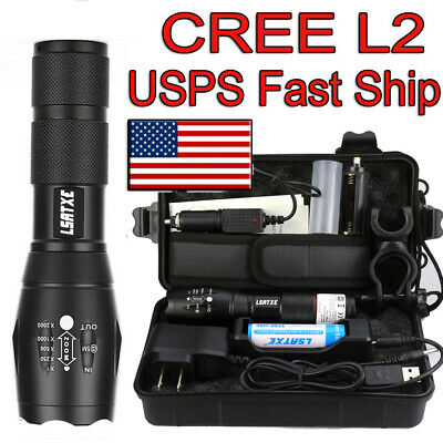 20000lm Genuine SHIXE L2 LED Tactical Flashlight US Military Grade Torch