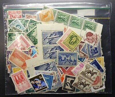Pre Decimal,Australia,Assorted bulk lot,450+ Stamps,Reasonable variety,MUH,#2062