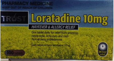 Trust Loratadine 10Mg Same As Claratyne Generic *100* Tablets