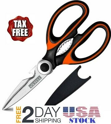 Kitchen Stainless Heavy Duty Multi function Scissors with Blade Cover Good Helpe