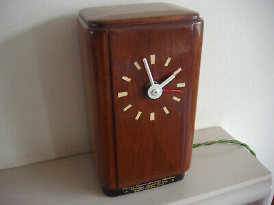 Vintage Smiths Electric Clock Hoover Washing Machine 1948
