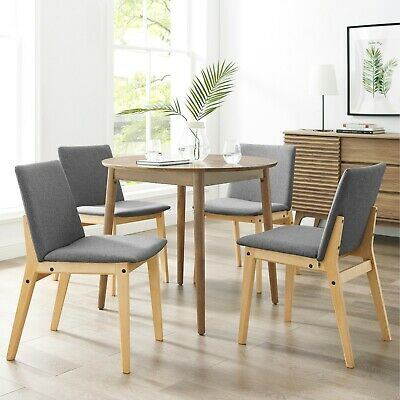 Art Leon Wooden Chairs Set of 2 with Cushioned Seat and Back for Dining Room