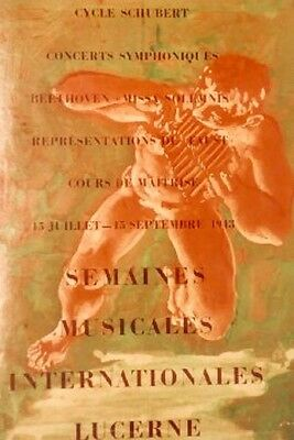 Original Plakat - Semaines Musicales Internationales Lucerne