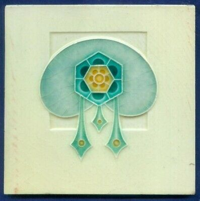 Jugendstil Fliese, Art Nouveau Tile Corn Brothers, Fantasie Blüte Fantasy Flower