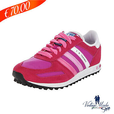 e74065aaa8 Adidas Calzature LA Trainer K Girls Shoes Q20594 Scarpa Casual Sneakers  Bambina