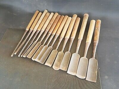 Set of 15 in Channel Japanese Carving Gouges