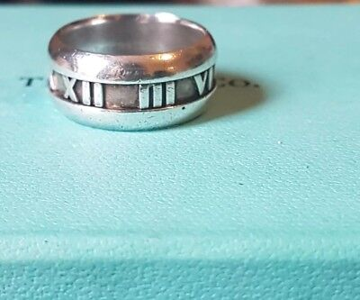 bd3600e7ab1 TIFFANY & CO ring Atlas Ring, size us7.5 silver 925 - £67.00 ...