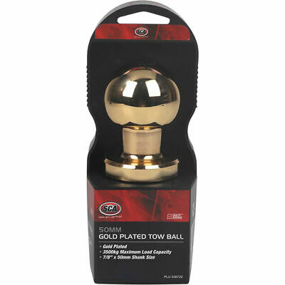 SCA Tow Ball - Gold Plated, 50mm
