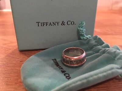 f9d71a7d971 Tiffany & Co Wide Atlas Ring Sterling Silver Size 6.5 US, Size H UK,