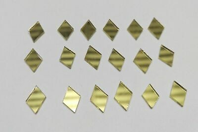 100 Pc Diamond Golden Glass Mirror Mosaic Craft Tile Decor Art 7 mm for Dresses