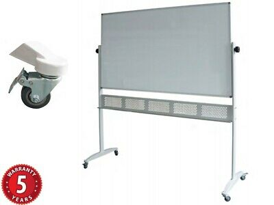 Rapidline Mobile Porcelain Whiteboard Double Sided Pivoting Steel Stand